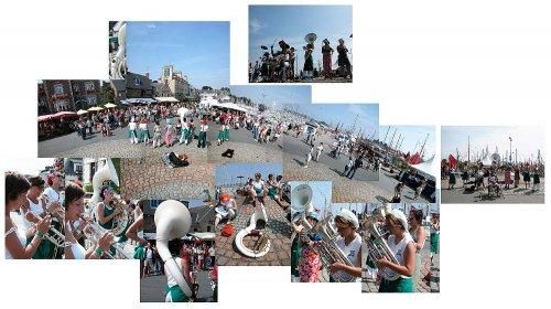 La fanfare Brass Bouillonnes à Paimpol pour les Chants de marins