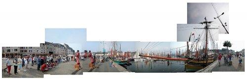 Le cotre Renard à quai à Paimpol