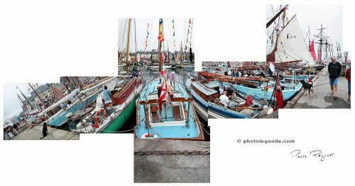 Bateaux à quai à Paimpol pour les Chants de marins