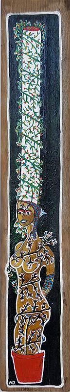bigoudène cultivée, peinture de Mikel Jestin