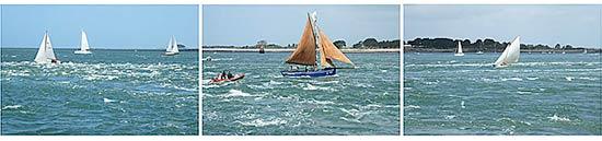 Le courant de marée à l'entrée du golfe du Morbihan
