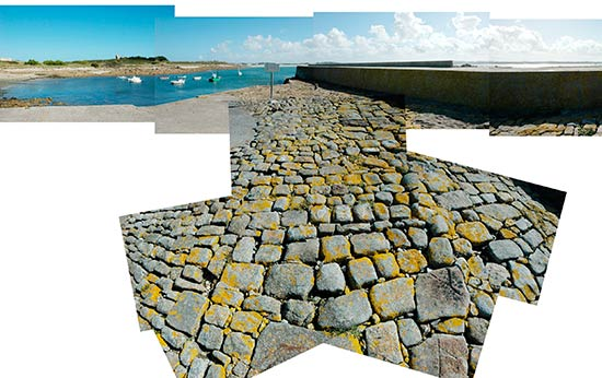 Le quai du port de l'île de Sieck