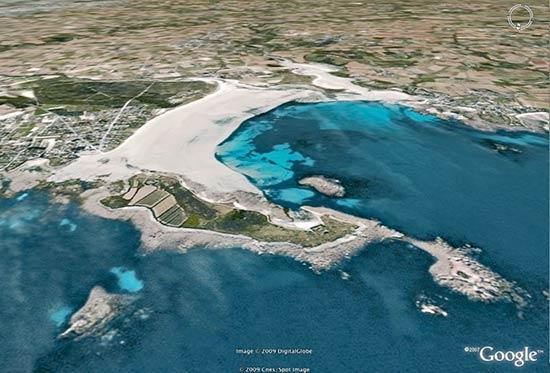 L'île de Sieck sur Google earth