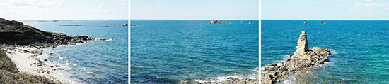 Le curieux rocher empilé près de la plage du Guerzit