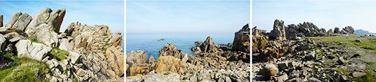 Les rochers de la pointe du Diben