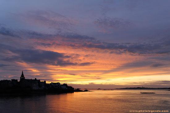 coucher de soleil à Roscoff